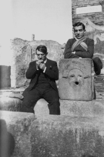 Pablo Picasso and Leonid Massine at Pompeii