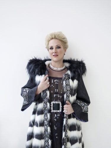 Diana Damrau in Pelush faux fur