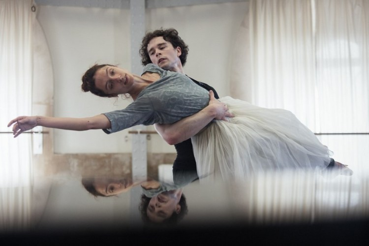 Dorothée Gilbert and István Simon rehearse Giselle, photo by Ann Ray Anne Deniau 5