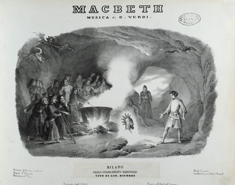 Frontispiece Macbeth of 1851 © Istituto Nazionale di Studi Verdiani