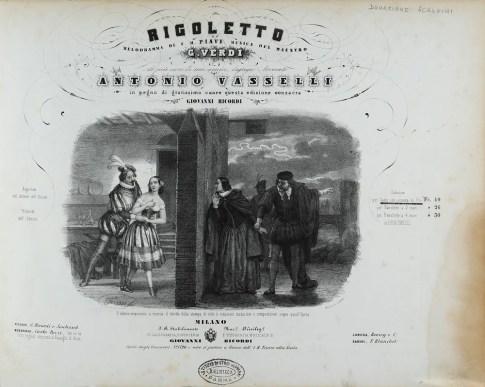 Frontispiece of Rigoletto of 1965 © Istituto Nazionale di Studi Verdiani