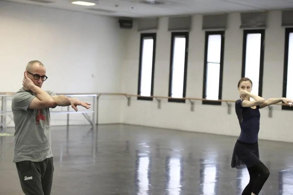 Progetto Handel Svetlana Zakharova and Mauro Bigonzetti in rehearsal photo by Brescia and Amisano, Teatro alla Scala