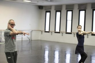 Progetto Handel Svetlana Zakharova and Mauro Bigonzetti in rehearsal photo by Brescia and Amisano, Teatro alla Scala