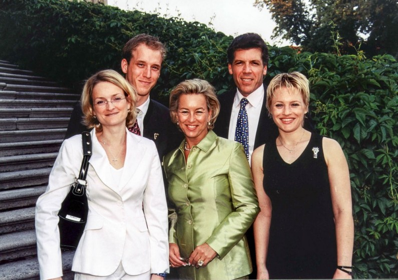 The Austrian family Felicitas Herberstein, Maximilian Herberstein, Andrea Herberstein, Thomas Hampson and Catherine Pisaroni