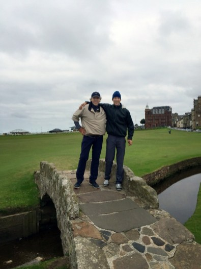 Thomas Hampson with Maximilian on the Old Course at St Andrews