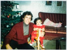 Thomas Hampson with his daughter Meghan in 1983