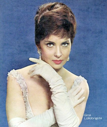 Photo of Gina Lollobrigida from the front cover of the New York Sunday News magazine