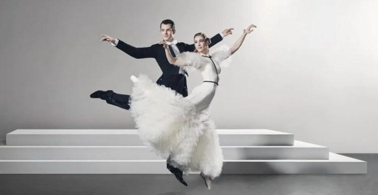 Queensland Ballet dancers Shane Weurthner and Lisa Edwards in publicity still for Derek Deane's Strictly Gershwin