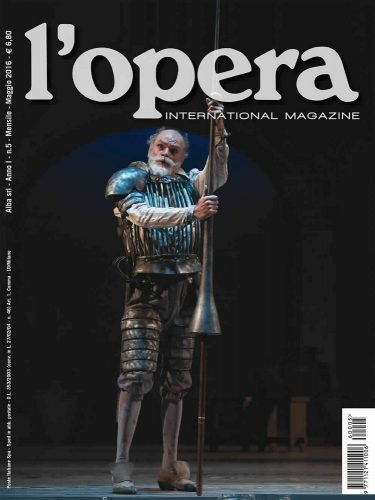 On the cover of Italy's L'opera magazine, 2016