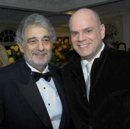 Placido Domingo with Gregory Reinhart in Washington DC after Samson et Dalilah