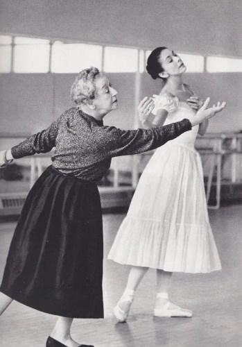 Tamara Karsavina rehearsing Margot Fonteyn in Le Spectre de la Rose