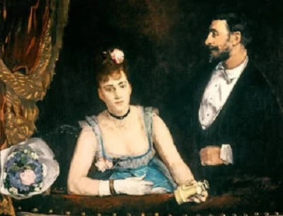 A Box at the Theatre des Italiens by Eva Gonzalès, 1874 © Musée d'Orsay