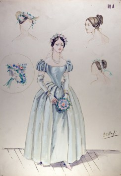 La sonnambula, costume design for Amina by Piero Tosi, 1955