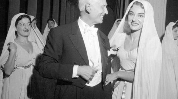 Newly restored photos from the La Scala Archive of Victor de Sabata with Callas, Tebaldi, Toscanini, Olivier