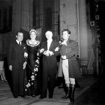 Victor de Sabata with Renata Tebaldi and Giuseppe Di Stefano