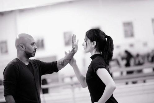 Akram Khan and Tamara Rojo in rehearsals for Giselle © Laurent Liotardo