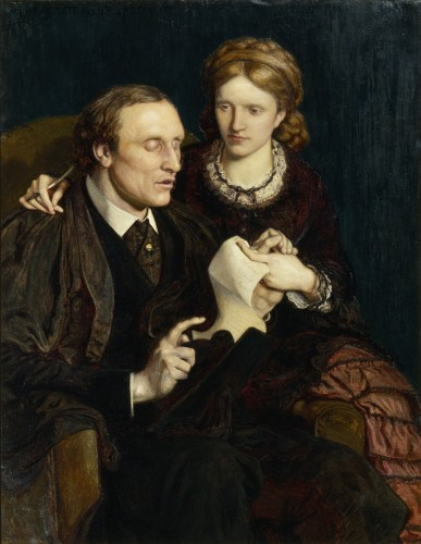 Dame Millicent Garrett Fawcett and Henry Fawcett by Ford Madox Brown, 1872 © National Portrait Gallery, London