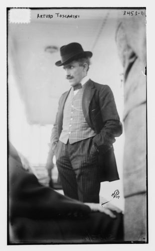 Arturo Toscanini, conductor of the Metropolitan Opera from 1908 to 1915, leaving New York in April, 1915 Flickr Commons project, 2012