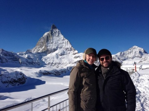 At the Swiss Alps with Sam