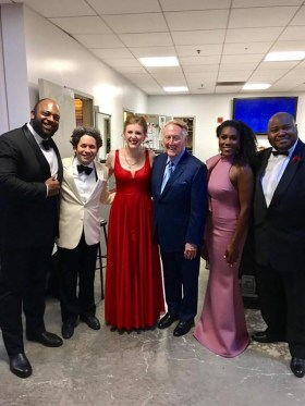 At the The Hollywood Bowl, LA Philharmonic with Gustavo Dudamel, J'Nai Bridges, Issachah Savage, and Ryan Speedo Green in 2017