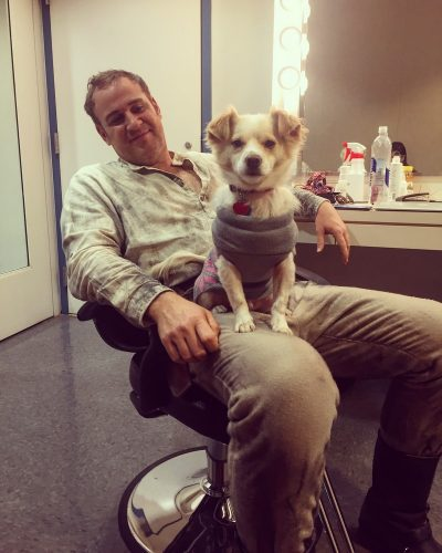Backstage at Chicago Lyric Opera for Les Troyens with my rescue dog Teemo 2016