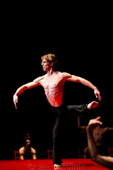 Julien Favreau dancing Boléro, 2016, photo by Ilia Chkolnik