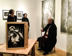 Barbara Luisi with Eikoh Hosoe at the Roonee 247 Fine Arts Gallery in Japan