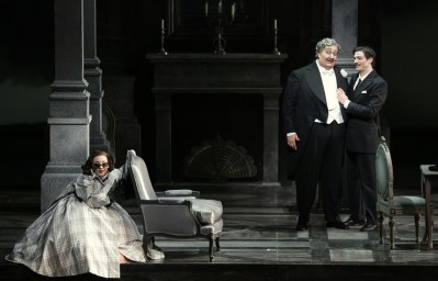 Don Pasquale with Feola, Maestri and Olivieri © Brescia e Armisano, Teatro alla Scala 2018