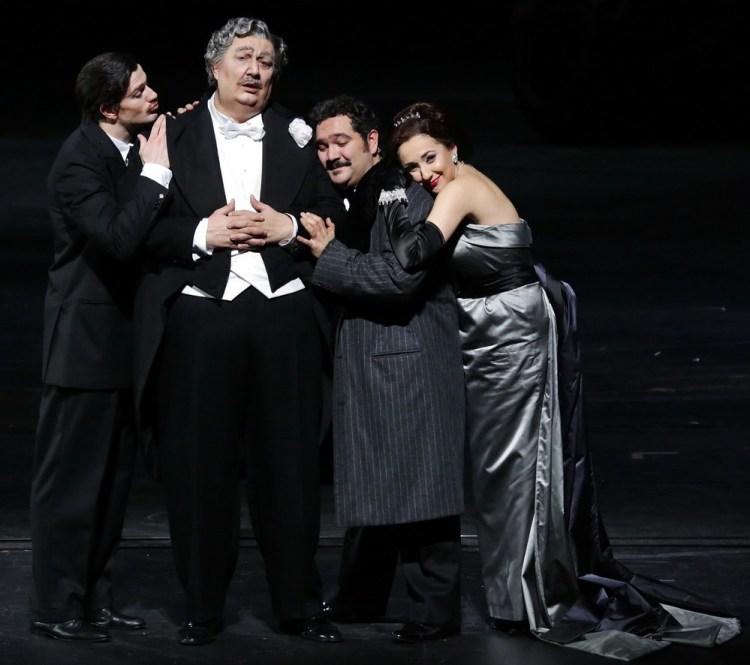 Don Pasquale with Olivieri, Maestri, Barbera and Feola © Brescia e Armisano, Teatro alla Scala 2018
