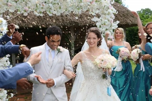 Laurretta Summerscales and Yonah Acosta's wedding day, photo by Laurent Liotardo
