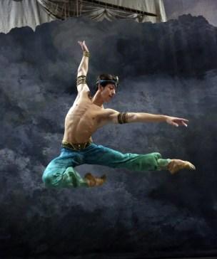 Le Corsaire rehearsal Mattia Semperboni