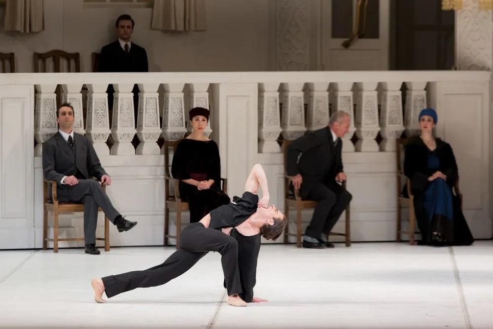 Francesco Gabriele Frola With Artists Of The Ballet In Nijinsky. Photo By Karolina Kuras, 2017