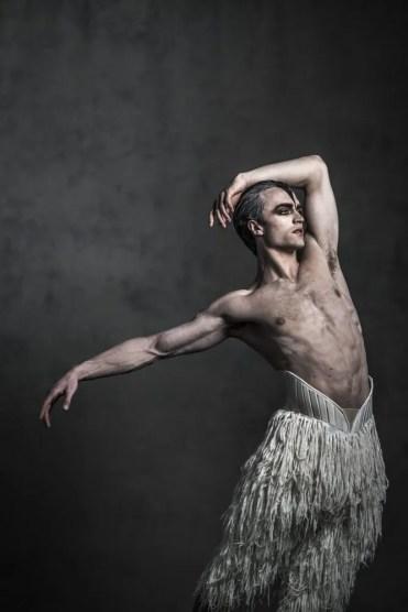 Matthew Bourne's Swan Lake. Matthew Ball as 'The Swan'. Photo by Johan Persson