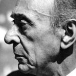 Arnold Schoenberg in Los Angeles 1948, photo by Florence Homolka crop