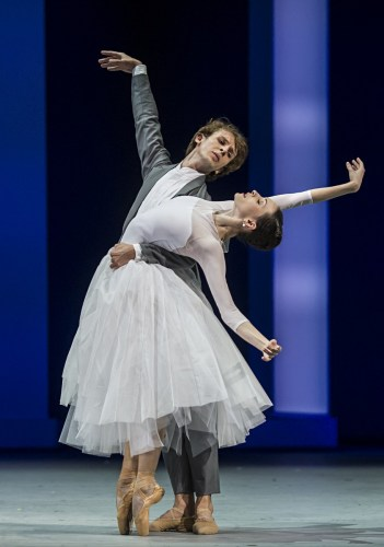 Olga Smirnova and Semyon Chudin in The Taming of the Shrew, photo by Alice Blangero
