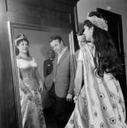 Aida, 1963, Cossotto with Zeffirelli. Costume by Lila De Nobili. Photo Piccagliani