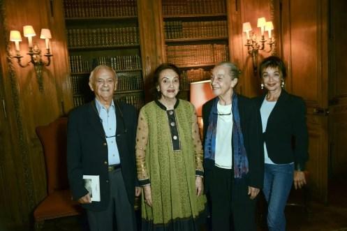 from left. Ferruccio Soleri, Anna Crespi, Luisa Spinatelli, Oriella Dorella