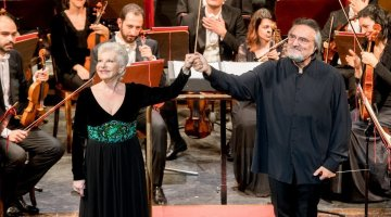Mariella Devia e Sabbatini, photo by Gianfranco Rota, Donizetti Opera 2018