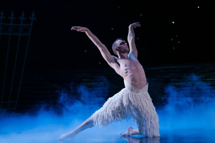 Matthew Ball in Matthew Bourne's Swan Lake, photo by Dasa Wharton, 2018 06