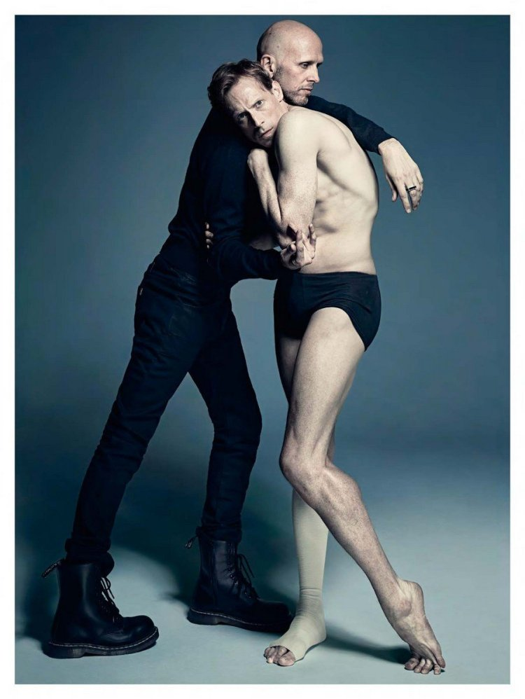 Edward and The Royal Ballet's Resident Choreographer, the legendary Wayne McGregor
