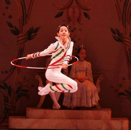 Jeffrey Cirio as Candy Cane with Central Pennsylvania Youth Ballet, age 12, photo by Rosalie O'Connor