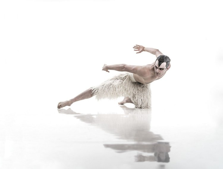 MATTHEW BOURNE'S SWAN LAKE. Will Bozier as 'The Swan'. Photo by Johan Persson