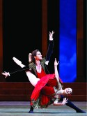 Vladislav Lantratov and Maria Alexandrova in Don Quixote, photo by Damir Tyusupov, Bolshoi Theatre