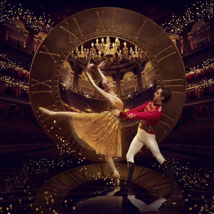 Emma Hawes and Francesco Gabriele Frola in ENB's Cinderella, photo © Jason Bell, with Art Direction and Design by Charlotte Wilkinson Studio