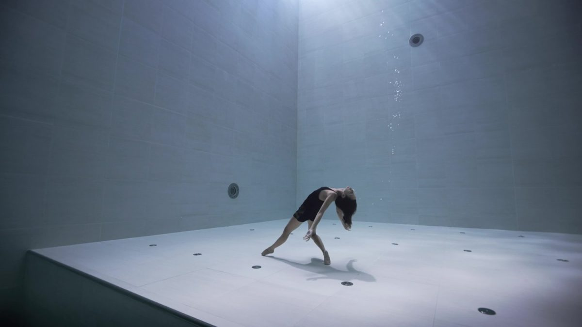 Julie Gautier in the Y 40 Pool