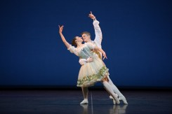Emilia Cadorin and Rhys Antoni Yeomans performing Coppélia © Laurent Liotardo