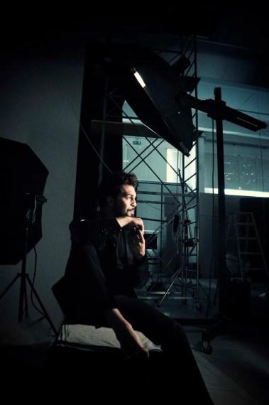 Paolo Bordogna on a photoshoot