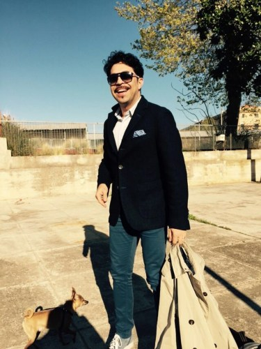 Paolo Bordogna out walking with Sulpice