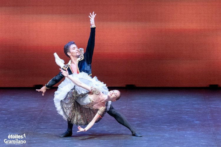 Don Quixote (pas de deux, Act III) with with Tatiana Melnik and Bakhtiyar Adamzhan © Graham Spicer, Daniele Cipriani Entertainment 2