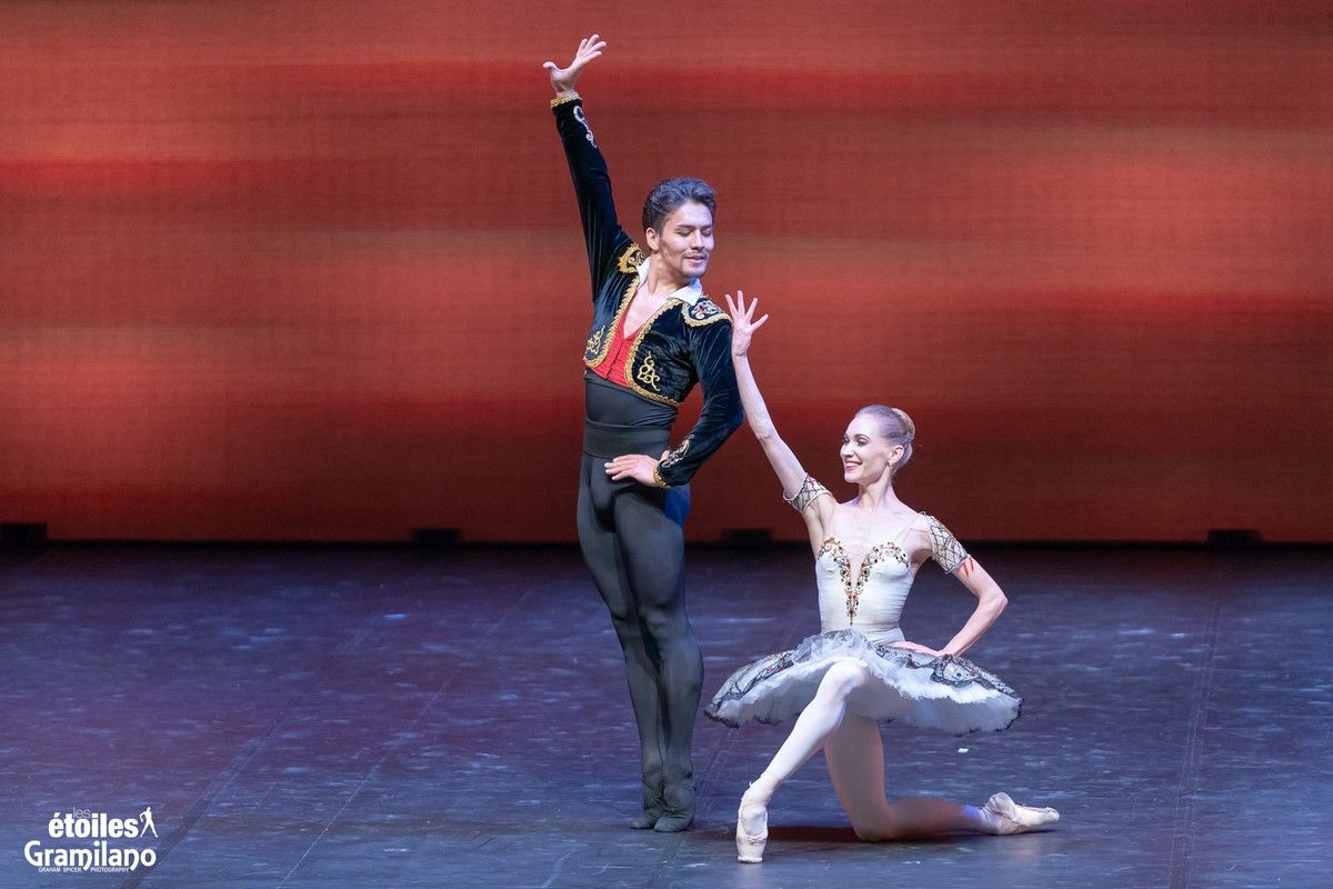 Don Quixote (pas de deux, Act III) with with Tatiana Melnik and Bakhtiyar Adamzhan © Graham Spicer, Daniele Cipriani Entertainment 5